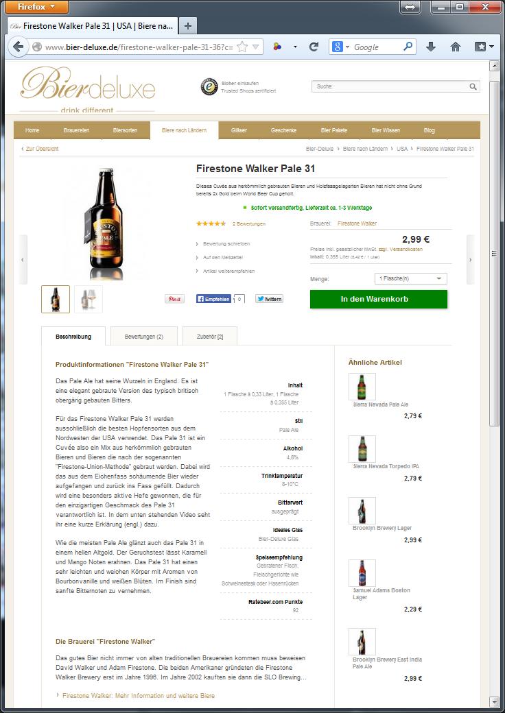 Bier-Deluxe Auswahl