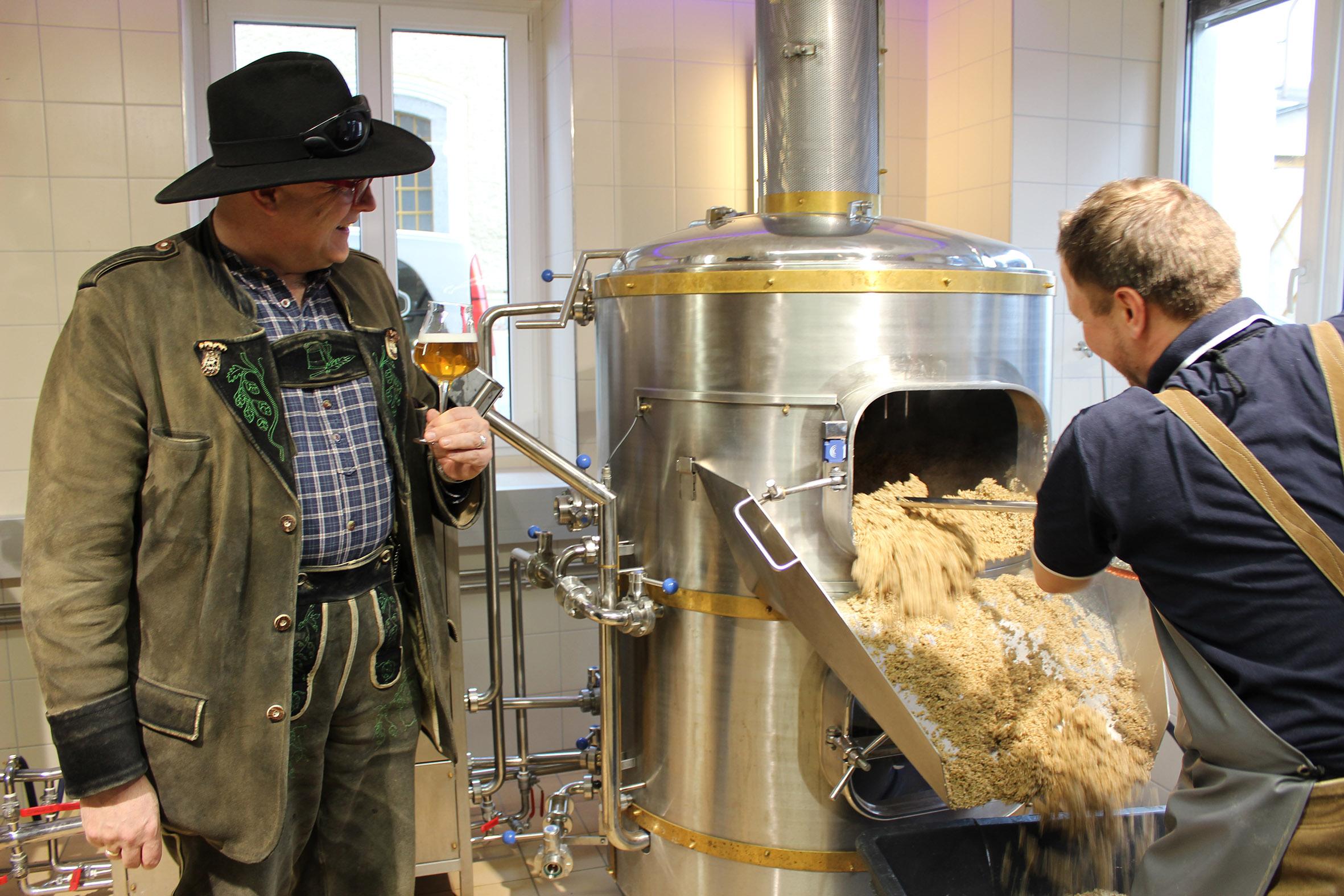 Conrad Seidl zu Gast bei Rieder Bier