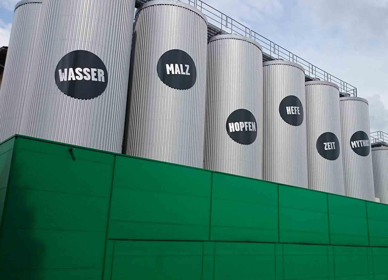 Tanks in der Freistaedter Brauerei