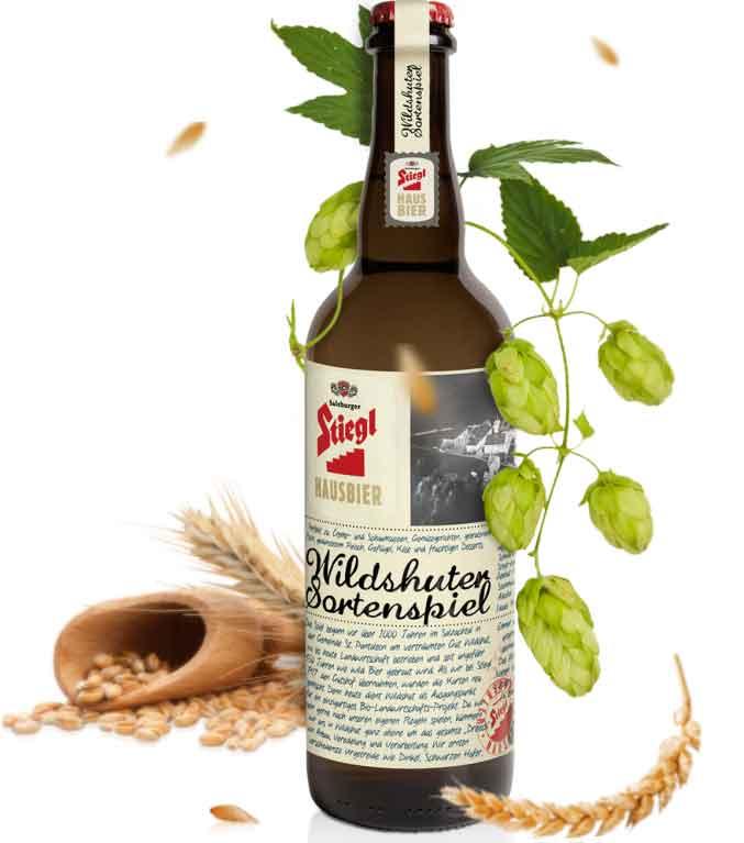 Hausbier Stiegl Wildshuter-Sortenspiel