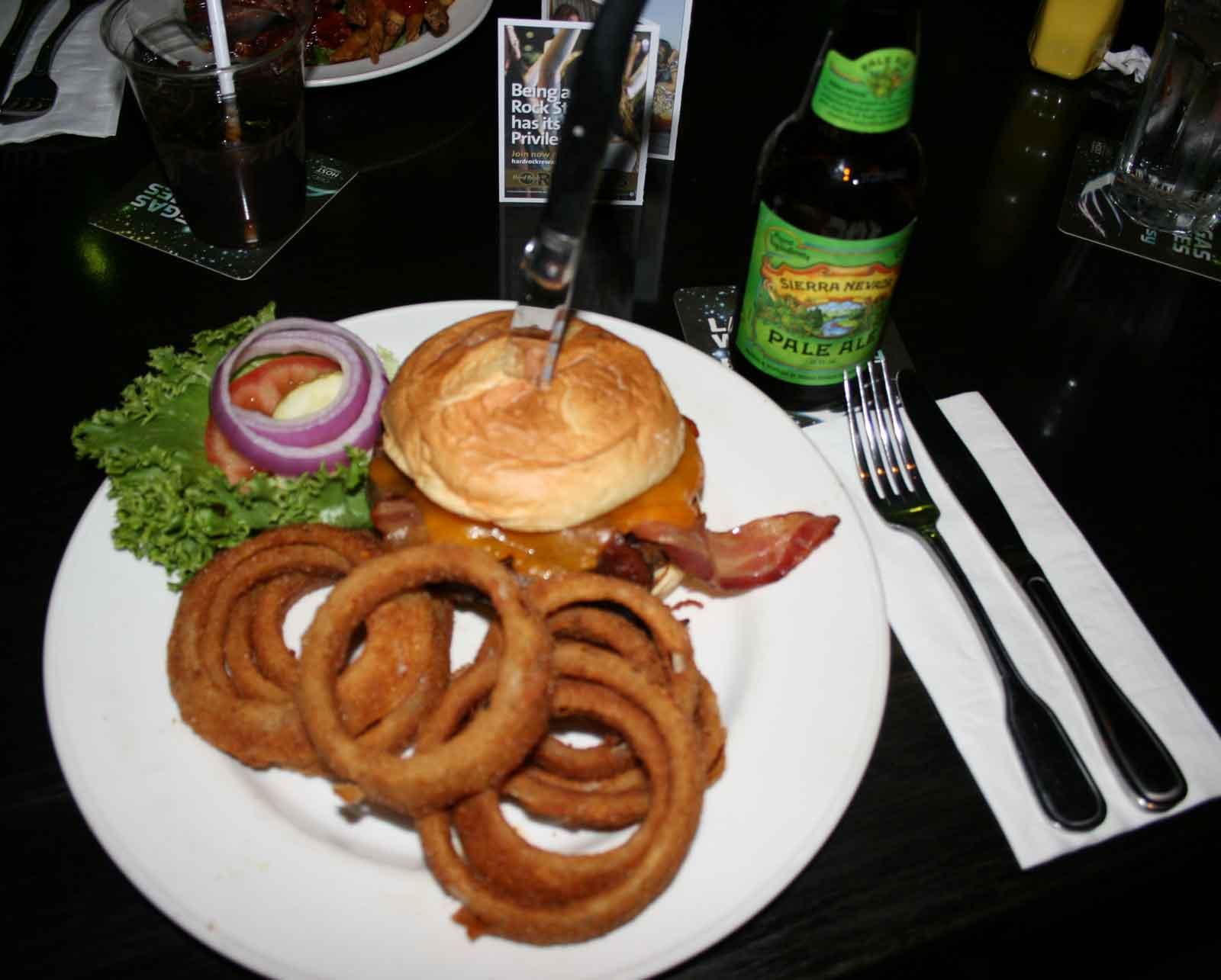 PaleAle mit Burger